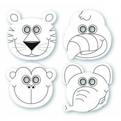 Jungle Buddies Color Your Own Mask, Jungle Animal Mask,These Jungle Buddies Color Your Own Mask include assorted styles of a tiger, parrot, monkey and elephant. Preschool Jungle, Jungle Crafts, Preschool Crafts, Jungle Activities, Jungle Party, Jungle Theme, Jungle Safari, Jungle Jaunt, Theme Carnaval