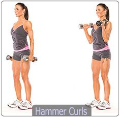 hammer curls Top ten upper body exercises for women