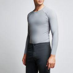 CĀLM Breaker Long-Sleeve Rashguard, Sky Grey Crew Clothing, Rash Guard, Sky, Man Shop, Long Sleeve, Swimwear, Mens Tops, Clothes, Collection