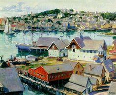 Max Kuehne (1880-1968)   Gloucester Harbor (1912)