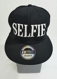 6b31bea034442 Details about New Illest Embroidered Flat Bill 6 Panel Black Snapback Hat  Cap Unisex Adult