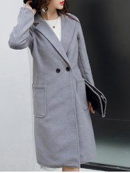 SHARE & Get it FREE | Lapel Two Button Long Trench CoatFor Fashion Lovers only:80,000+ Items • New Arrivals Daily • Affordable Casual to Chic for Every Occasion Join Sammydress: Get YOUR $50 NOW!