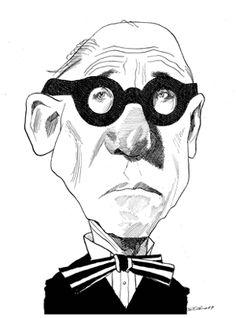 Le Corbusier by David Levine