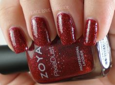 @Zoya Nail Polish PixieDust Chyna with top coat
