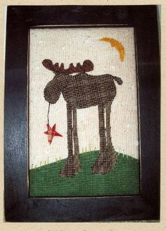 moose applique stitchery pattern  This website has so many cute patterns