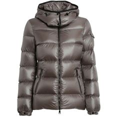 Pre-owned Moncler Berre Down Jacket Multiple Sizes Coat ($1,150) ❤ liked on Polyvore featuring outerwear, coats, light brown, brown coat, down filled jacket, feather coat, moncler coats and moncler