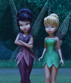 Tinkerbell and Vidia 💓 Tinkerbell Movies, Tinkerbell And Friends, Tinkerbell Disney, Disney Fairies, Tinkerbell Wallpaper, Disney Phone Wallpaper, Disney Love, Disney Art, Pixar