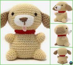 DIY Easy Crochet Amigurumi Puppy Dog Stuffed Toy Free Pattern