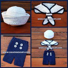 Calleigh's Clips and Crochet Creations Crochet Pattern: Ship Shape Sailor Set