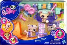 Littlest Pet Shop Figures Themed Playset Caring Clinic Cat, Mouse & Panda by Hasbro. $34.99. Caring clinic with cat, mouse and panda