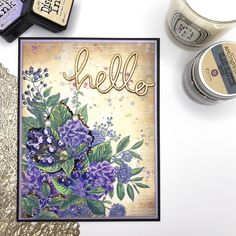 I'Ll show you quickly how i coloured the flowers, but what i really want to show you is how to create that yummy vintage toned background! Distress Oxide Ink, Alcohol Markers, Deco Engagement Ring, Ink Stamps, Pottery Making, Coordinating Colors, Pretty Cards, Art Store, Small Flowers