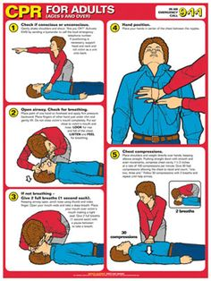 Adult Choking First Aid Wall Chart Poster ARC Guidelines)- Fitnus Corp. Choking First Aid, First Aid Cpr, Sign Language Phrases, Sign Language Interpreter, First Aid Poster, What Is Nursing, Cardiopulmonary Resuscitation, Cpr Training, Top Nursing Schools