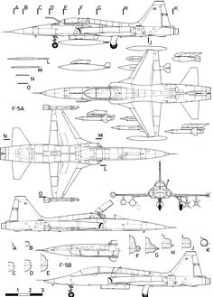 Northrop F-5 blueprint
