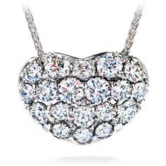 Hearts On Fire: Silk Pave Sweetheart Diamond Pendant Necklace