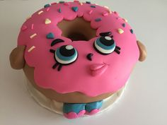Here is my Vanilla Cake oversized Shopkins D'lish Donut Cake I made for my niece this weekend.  I used a large angel food cake pan and a Vanilla cake recipe tha…