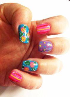 Whimsical summer nails