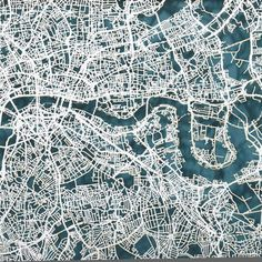 london map cut out street map