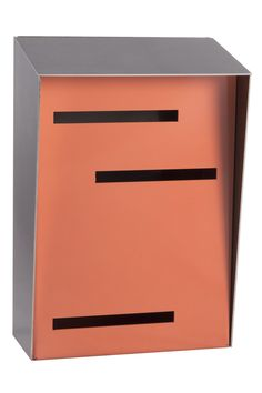 """- Dimensions: 6.75"""" Wide x 4"""" Deep x 10"""" Tall - Handmade in the USA - Durable 16 Gauge Stainless Steel - Weather Resistant Powder Coated Finish - FREE Domestic Shipping - 100% Satisfaction Guarantee I have to admit, our original horizontal modern mailbox was designed with our own home in mind but we quickly realized the dimensions didn't apply to our own goal of highlighting the unique modern characteristics of everyone else's home. A neighbor with an amazing mid-century modern home shared…"""