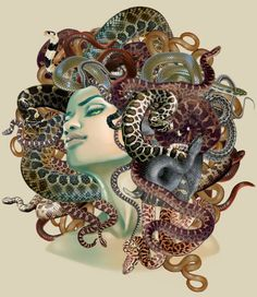 I did this illustration late last year for a wonderful client, author Constance Burris, for her book Medusa, which you can check out . Medusa Gorgon, Medusa Art, Medusa Tattoo, Medusa Head, Medusa Drawing, Siren Tattoo, Mythological Creatures, Mythical Creatures, Rome Antique