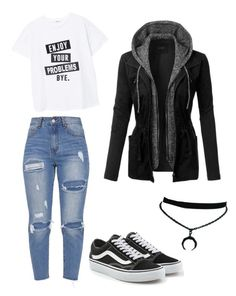 """""""NoName #21"""" by lunqqa on Polyvore featuring MANGO, Vans and LE3NO"""