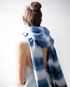 dip-dyed scarf diy by martha stewart
