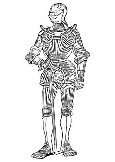 Coloring page armour frontview