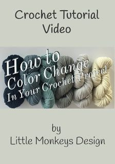 This is a great video tutorial if you want to make a multi-colored crochet blanket
