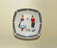 Vintage Figgjo Flint Norway Norge Plate Bowl by claudettesvintage