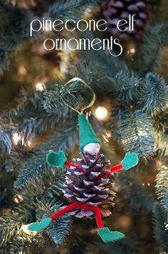 These  Pinecone Elf Ornaments are going to look FABULOUS on my tree!