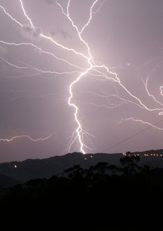 thunder and lightning storms are the best