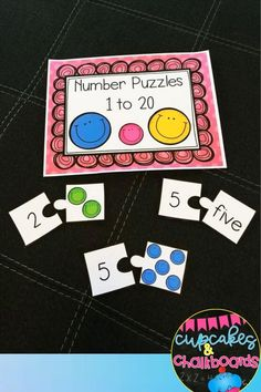 Jun 7, 2020 - Students will enjoy learning number recognition with these number puzzles. This pack includes number puzzles from 1-20. It includes one set that matches the number to the number word and one set that matches the number to the correct number of smiley faces. Cut apart (great for laminating if you ...