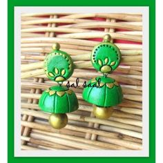 Terracotta Jhumka - Online shopping for Terracotta products by Sal Saal Creations