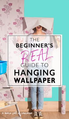 The beginner's REAL guide to hanging wallpaper So funny. So helpful. This is the most approachable tutorial for how to hang wallpaper that I've ever seen! There are some great tips in here that I haven't heard anywhere else! Wallpaper Over Wallpaper, How To Apply Wallpaper, Prepasted Wallpaper, Hanging Wallpaper, Wallpaper Ideas, Wallpaper Installation, Bohemian Wallpaper, Jesus Wallpaper, Wallpaper Quotes