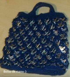 Bolso de mano con anillas