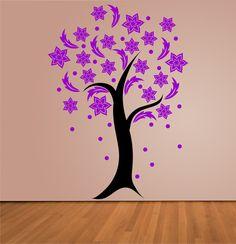 Blühender Baum groß - zweifarbig - Wandtattoo von DOON Germany auf DaWanda.com