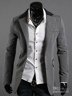 Wholesale NW 2306 Men's Suit Jacket Men's Slim Unique collar of the Department of Design Jacket Coat Outerwear, Free shipping, $29.43-37.76/Piece | DHgate
