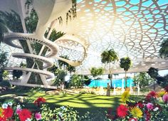 RADIANT: A Palace For Nature: Sanzpont Arquitectura Unveils Plans for a Self-Sustaining Botanical Oasis in Qatar | Inhabitat