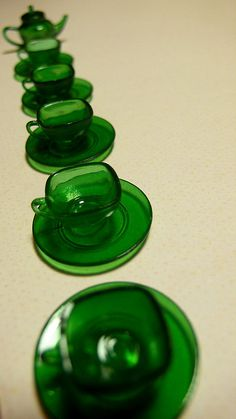 Green tea set, via Flickr.