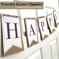 Printable Alphabet banner letters -- print these for free and made your own banner.