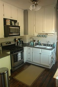 Cheap fix for mismatched cabinets « At Home Alterations