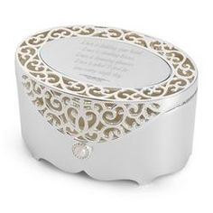 Personalized Filigree Oval Box Gift  $10.00