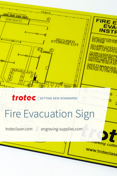 We used Trotec's TroLase Textures for this fire evacuation sign. This piece with made on a Speedy 400 120W laser. Follow the link for a step-by-step tutorial! #troteclaser #trotec Trotec Laser, Step By Step Instructions, Knowledge, Fire, Signs, Shop Signs, Sign, Facts