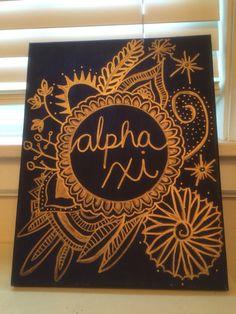 #sorority #crafts #biglittle #alphaxidelta #alpha #xi #delta