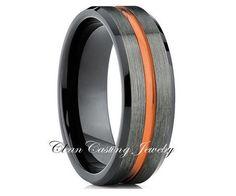 Tungsten Wedding Band,Tungsten Wedding Ring,Blue Tungsten Ring,Tungsten Carbide…