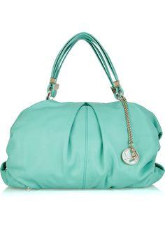 Christian Louboutin topaz leather hobo bag