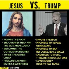 """So called """"Christians"""".DO NOT EVER talk about Jesus and Trump in the same sentence please Republican Jesus, Tuesday Motivation, Encouragement, Shit Happens, Words, Fake Christians, Anti Christ, Jesus Christ, Political Images"""