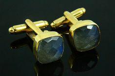 Natural Labradorite Cufflinks Labradorite Jewelry by earthyjewel