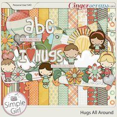 Hugs All Around: digital scrapbooking kit by Simple Girl Scraps