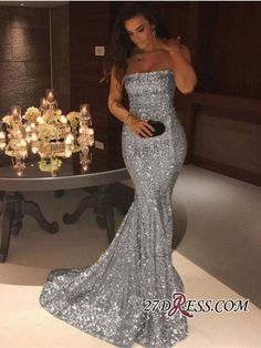 Gorgeous Strapless Mermaid 2018 Evening Dress Long On Sale_High Quality Wedding Dresses, Prom Dresses, Evening Dresses, Bridesmaid Dresses, Homecoming Dress - 27DRESS.COM