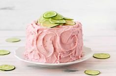 Strawberry Limeade Cake